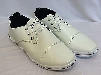 Para Hombre elegante aspecto de cuero lazada Formal Casual Zapatos formadores del Reino Unido 6-11 Nuevo yh11