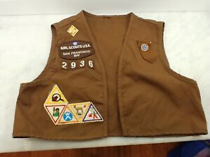 About Francisco Girl Bay Vintage With Scout Patches San Vest Details Badge 2936 Brownie CxBedor