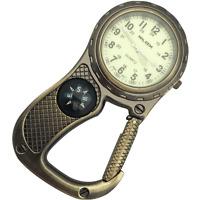 First Hand Healthcare Clip Belt Watch Antique Brass Compass Paramedic Nurse