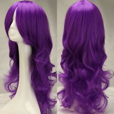 Mega Thick Cosplay Wig Long Synthetic Hair Full Head Costume Wig White Gray Pink
