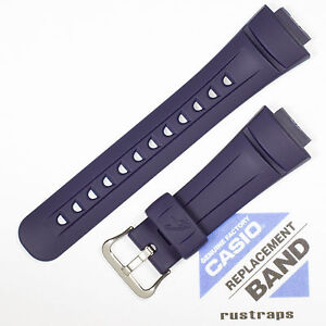 CASIO blue rubber watch band for G-2900, G-2900-2V, 10093417