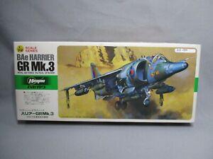 AM199-HASEGAWA-1-72-MAQUETTE-AVION-BAE-HARRIER-GR-MK3-REF-D20-TRES-BON-ETAT