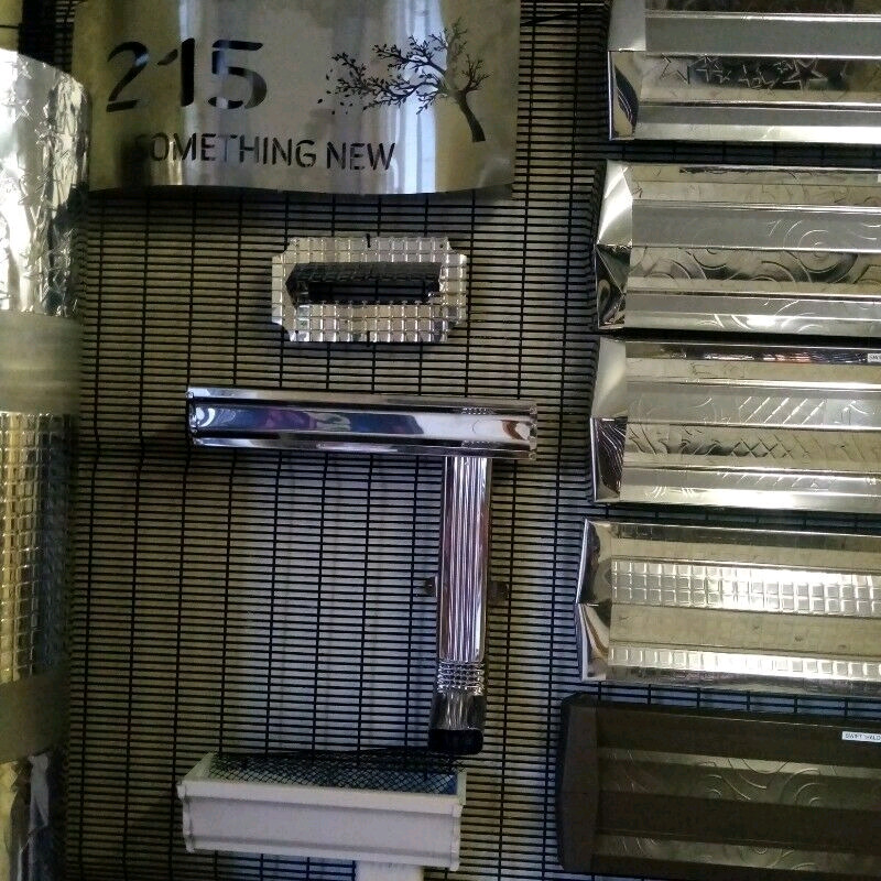 Aluminum windows and stainless steel gutters and pillar covers ,fascia