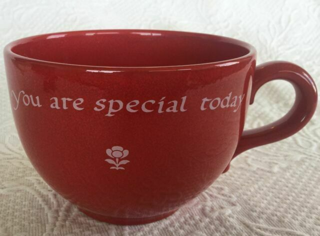 "/""You Are Special Today/"" Jumbo Cup//Saucer Waechtersbach German Stoneware"