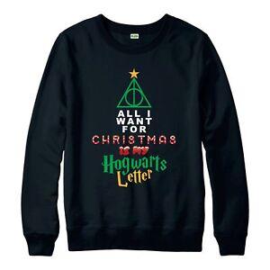 73860bd91 Image is loading Harry-Potter-Christmas-Jumper-Hogwarts-Xmas-Festive-Adult-