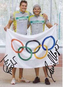 Jan Frodeno Triathlon Iron Man Champion & Daniel Unger13x18 Foto signiert 399407