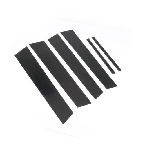 4dr 6pc//Set Door Trim Cover Kit Black Pillar Posts For Honda Civic 2006-2011