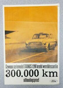 1963 Ford Taunus 12M Word Record Sales Folder (Dutch)