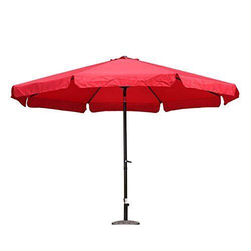Outdoor 12 Foot Aluminum Umbrella With Flaps YF-1104-3.5M-RR