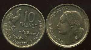 10-francs-GUIRAUD-1954-B-TTB