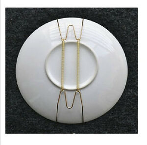 5 pcs wall display 9 8 11 plate dish hangers holder for the home decor ebay. Black Bedroom Furniture Sets. Home Design Ideas
