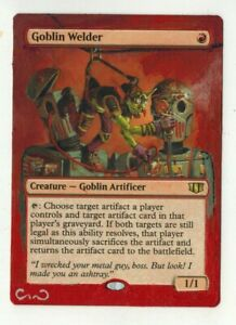 Goblin-Welder-Altered-Full-Art-MTG-Magic-Commander-2020-EDH-Birthday-Gift