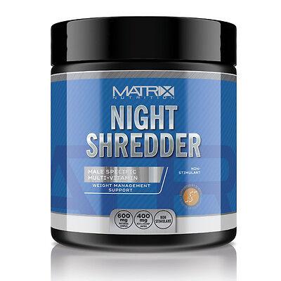 NIGHT SHREDDER - OVERNIGHT FAT LOSS - CLA - KETONES - MATRIX NUTRITION - TABLETS