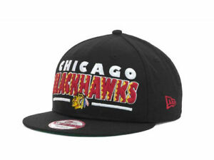 Chicago-Blackhawks-New-Era-9FIFTY-NHL-Retro-Sting-Snapback-Hockey-Cap-Hat