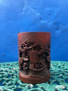 Antique-Chinese-Bamboo-Brush-Pot