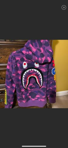 BAPE Color Camo Embroidery Zip Up Hoodie- Size M M