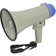 600m Range 10W Megaphone/Loud Hailer with Siren & Microphone - Speech/Voice Amp