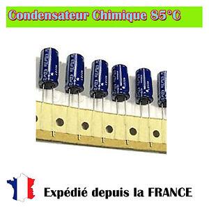 Lots-de-Condensateur-chimique-Radial-100uF-35V-85-C