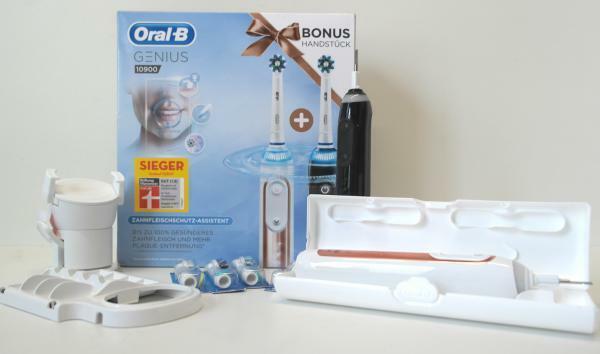 Oral B Genius 10900 Elektrische Zahnburste Mit 2 Handstuck Schwarz Rosegold Gunstig Kaufen Ebay