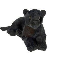 "Stuffed Laying Black Jaguar - by Wild Republic - 12"" - BRAND NEW - #15600"