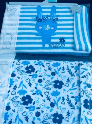 9-12 meses Nuevo Bebé Niñas Pack de 2 Bebé Niña Pijamas