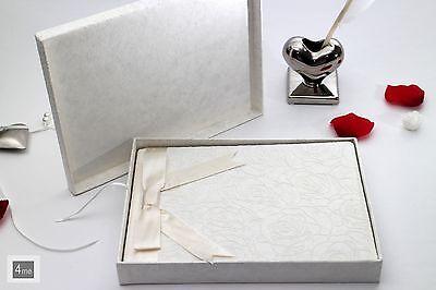 Wertvolles Gästebuch in Papierschachtel Handarbeit - Hochzeit Taufe Geburt Hotel