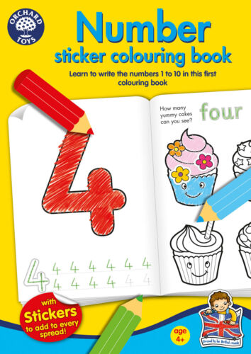 NEW Number Colouring Book