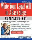 Write Your Legal Will in 3 Easy Steps by Robert C Waters (Mixed media product, 2012)