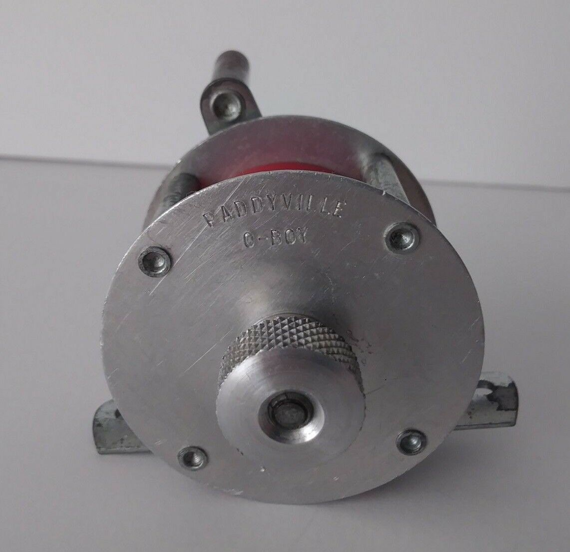 Vintage PADDYVILLE O-BOY Ice Fishing Jig Reel CLEAN & OILED Spins Smooth RARE