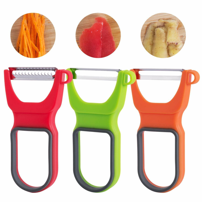 NEW 2021 3Pcs Magic Trio Peeler Set Stainless Steel Vegetable Fruit Peeler Cut