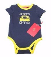 Boys Ferrari Fbs59030 Gto Officially Licensed One Piece Sz 3-6m Blue/yellow