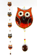 Owls on a string suncatcher garden mobile, window or ceiling decor FREE SHIPPING