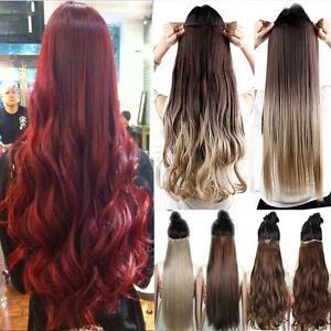 Ombre Clip In Hair Extensions Haarverlängerung Ein Tressen De Haare