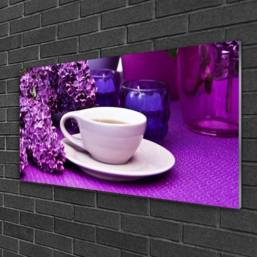 La paix est une bénédiction Image sur verre Tableau acrylique Tableau verre Impression 100x50 Floral Fleurs Tasse fd2563