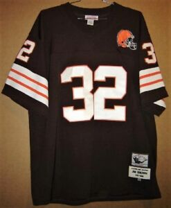 check out 66f2f 180db Details about CLEVELAND BROWNS JIM BROWN 1966 MITCHELL & NESS THROWBACK  JERSEY