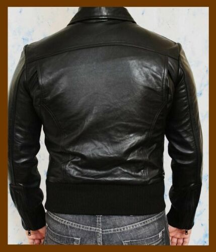 Leather Available Stylish In Black Real Mens Sizes All Cow Hide Jacket Fashion ngfH4
