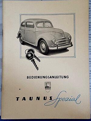 Original Ford Taunus Spezial Betriebsanleitung Ausgabe Dezember 1950 Din A5 4903 Genezen Van Hoest En Het Verlichten Van Slijm En Verlichten Heesheid