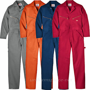 dickies coveralls mens long sleeve cotton work mechanic coveralls