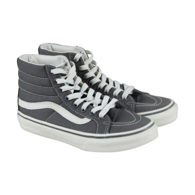 7aef190bdfcd9c Vans Off the Wall Sk8 Hi Slim Castlerock Gray Blanc de Blanc Shoes Mens 10