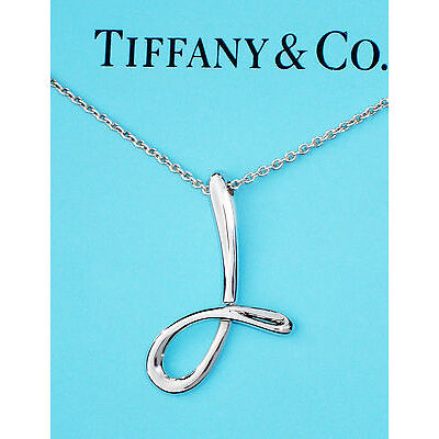 Tiffany & Co Elsa Peretti Sterling Silver Alphabet Letter Initial J Necklace