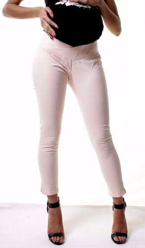 Maternity Pregnancy Summer Capri Skinny Leggings Cotton Under Bump Pants 6 to16
