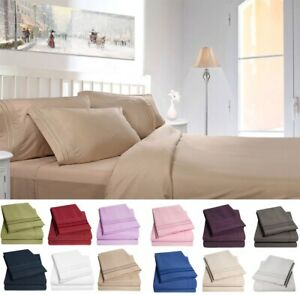 Luxury-Double-Brushed-Microfiber-1800-Bedding-Bed-Sheet-Set-Deep-Pocket-Sheets
