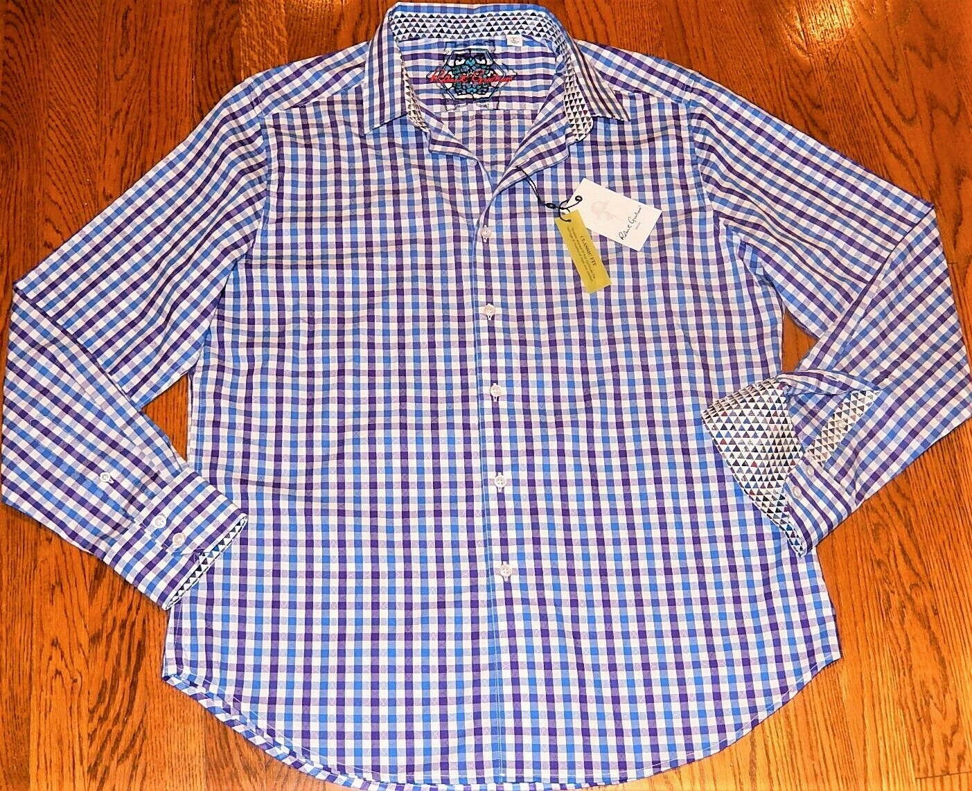 ROBERT GRAHAM herren ORIGINAL BRAND NEW AUTHENTIC DRESS hemd Größe L (groß), NWT