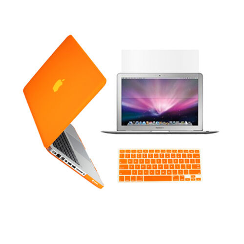"""LCD 3in1 ORANGE Rubberized Case for Macbook Pro 13/"""" A1425 Retina display Key"""