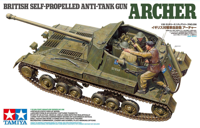 1 35 Tamiya British Anti Tank Gun Archer - Self Propelled  35356