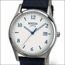 Boccia Thin Quartz Dress Watch with Light Weight 39mm Titanium Case #3562-01