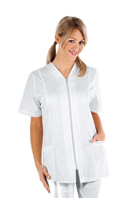 Casacca Estetista infermiere Panarea bianca Abbigliamento sanitario Isacco   ca5e9511726f