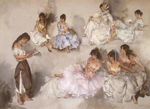 William-Russell-Flint-VARIATIONS-VI-Six-Figurative-Art