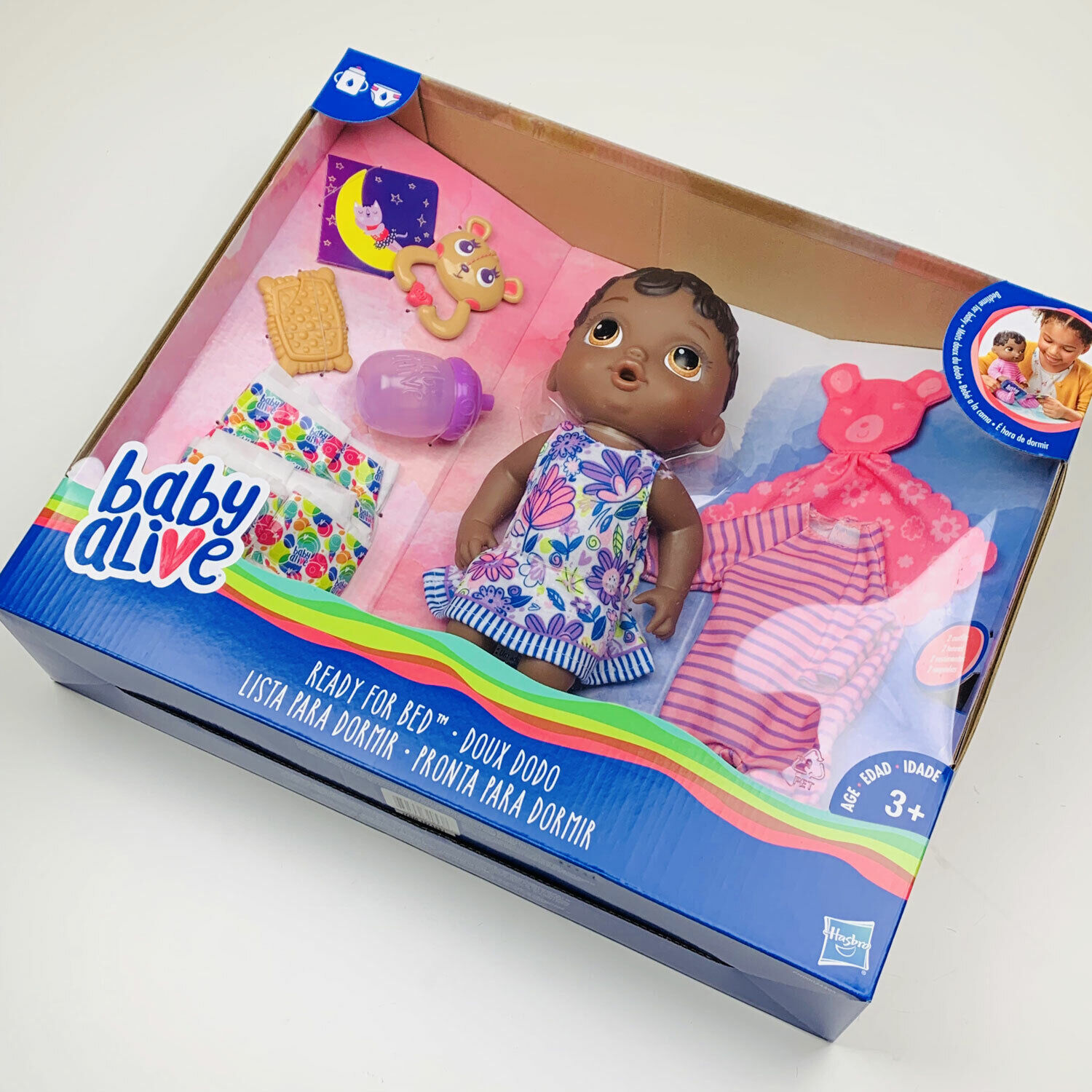 Picture of: Baby Alive Ready For Bed African American Doll W Accessories Outfit Diapers For Sale Online