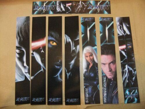 X MEN SET OF 8 BOOKMARKS WOLVERINE STORM CYCLOPS MARVEL COMICS PATRICK STEWART
